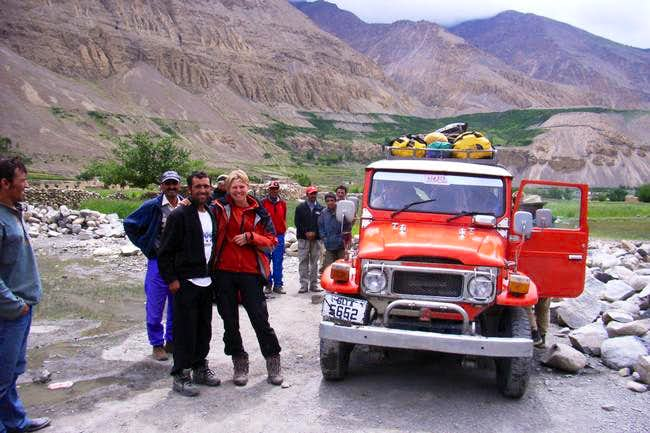 Jeep drive to Shimshal