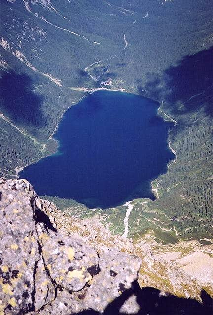 Morskie Oko lake seen from...