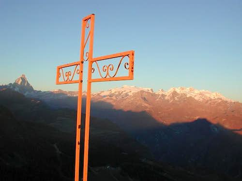 Sunset on Monte Rosa Group