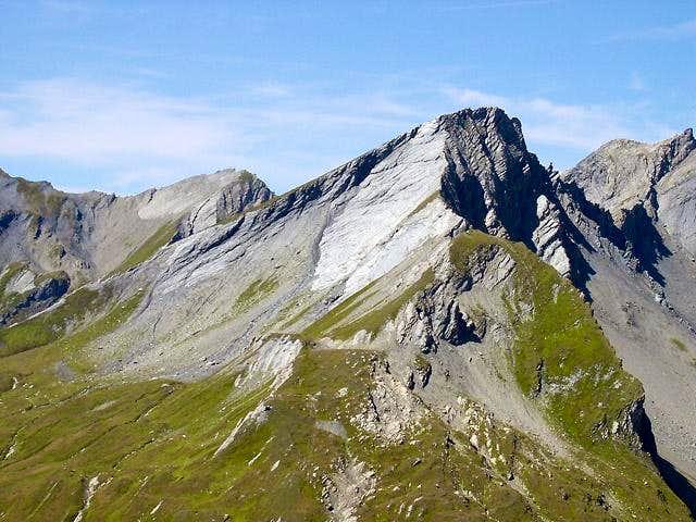 The rocky side of Lancebranlette <i>2927m</i> viewed from east (Monte Belvedere <i>2642m</i>)