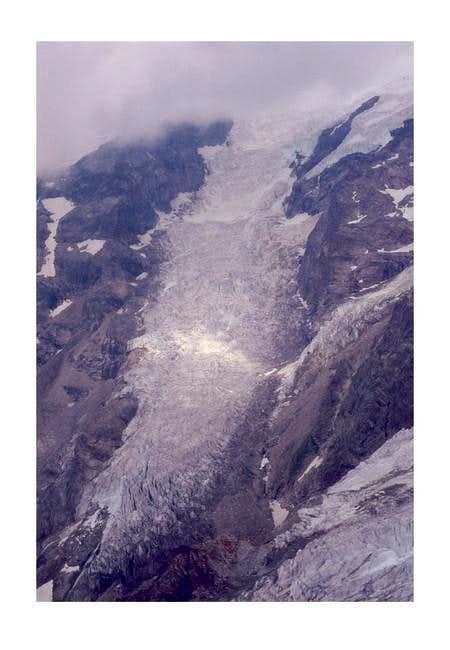 The Lys glacier tongue viewed...