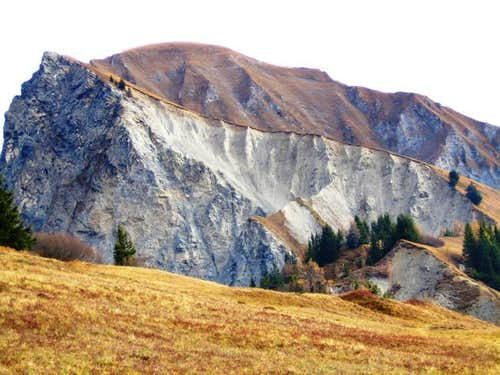 Ridge with summit in the...