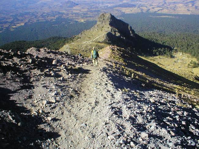 PArt of the Ridge leading to...
