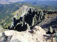 Summit crater- La Melinche...