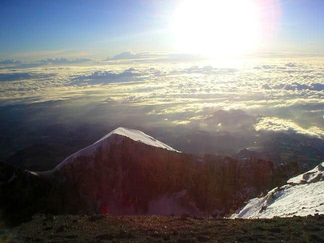 Sunrise at the summit ...
