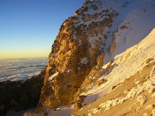 Sunrise at the summit...