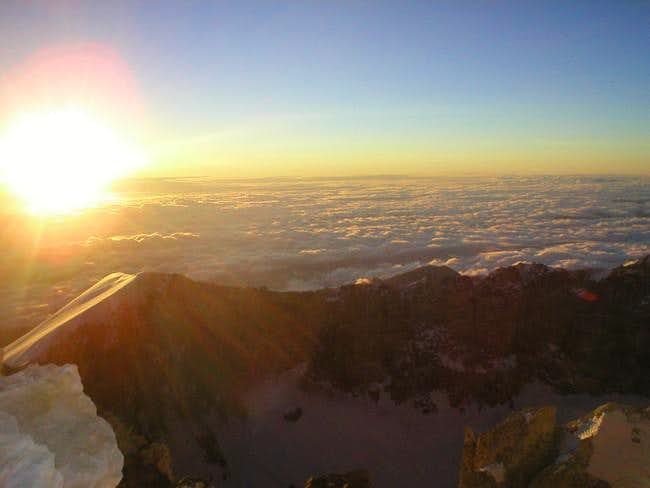 Sunrise at the summit of...
