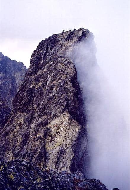 Velky Ganek summit ridge...