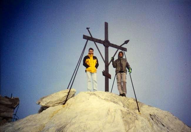 The big cross on the summit...