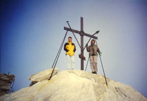 The big cross on the summit...