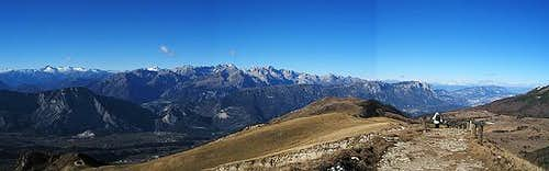Panoramic vision from Monte...