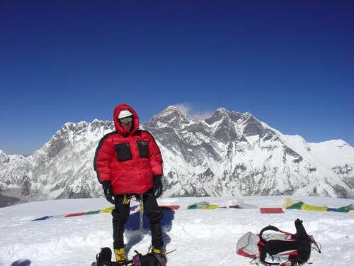 ON the summit of Ama Dablam....