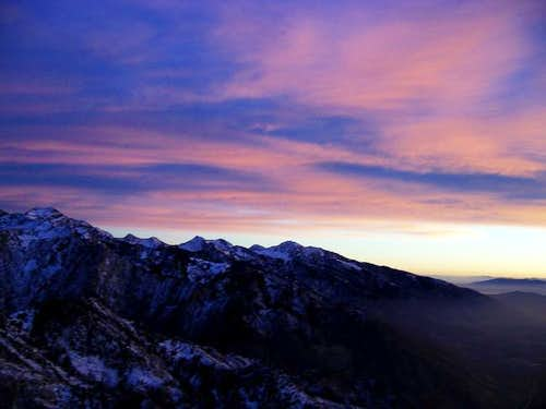 Sunset from Mount Olympus,...