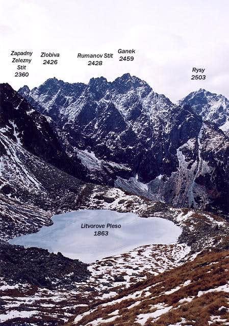 View from Litvorova Dolina on...