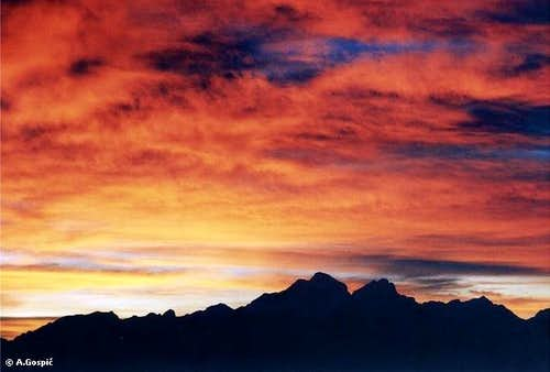 Fire in the Sky above Triglav