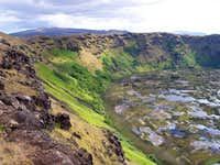 Rano Kau and its crater rim...