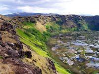 Rano Kau and its crater rim...