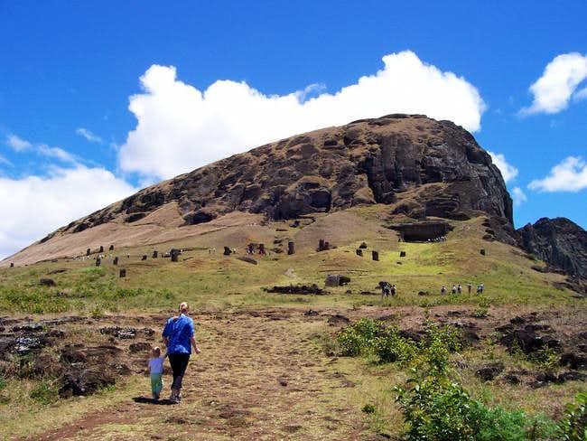 The summit of Rano Raraku...