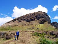 The summit of Rano Raraku...
