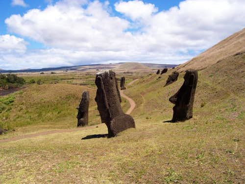 Rano Raraku Loop Route via Ahu Tongariki