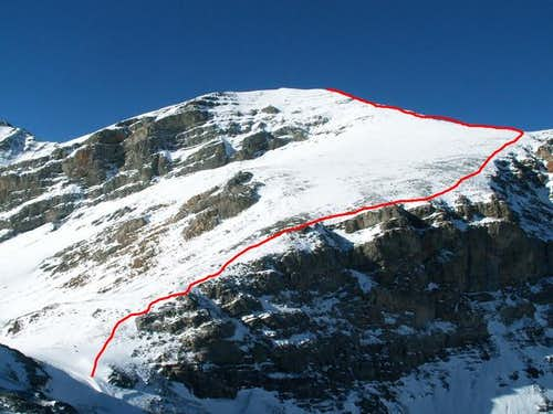 The East Ridge Route shown in...