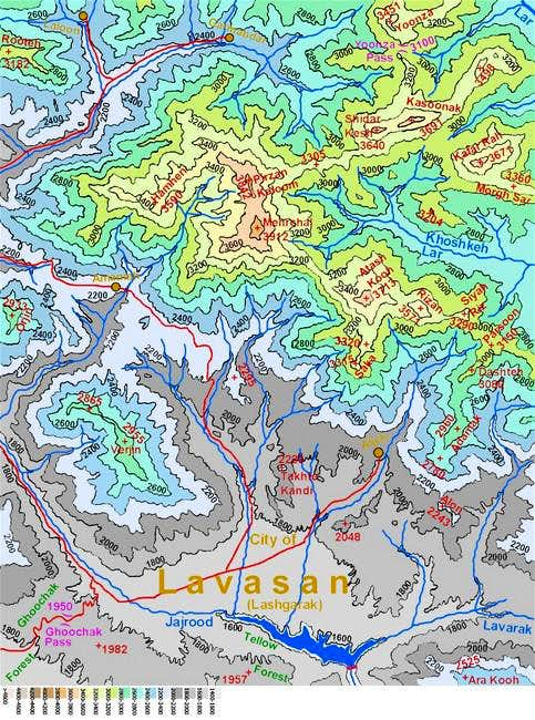 Map of Mehrchal area peaks...