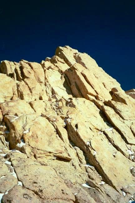 The summit block of Mount...