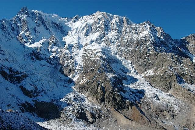 Dufour spitze and Monte Rosa...