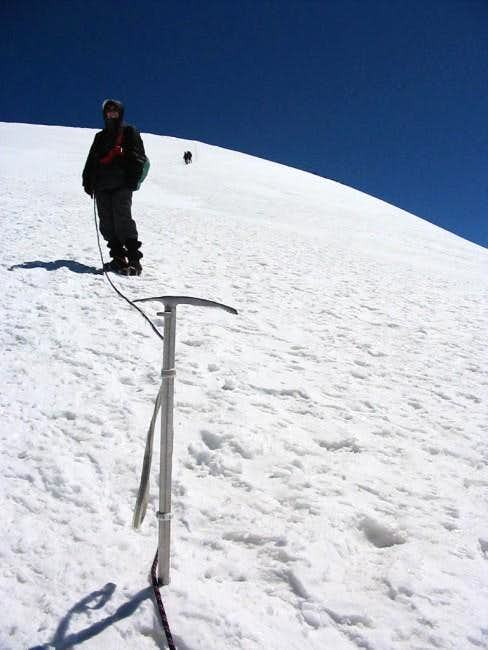 Descent from Breithorn
