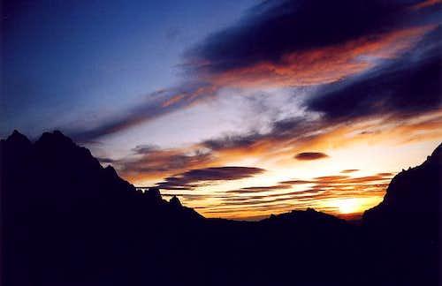 Prostredny Hrot at sunrise...