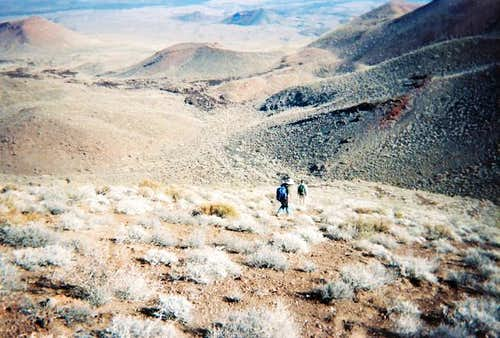 Descending Pinacate Peak.
