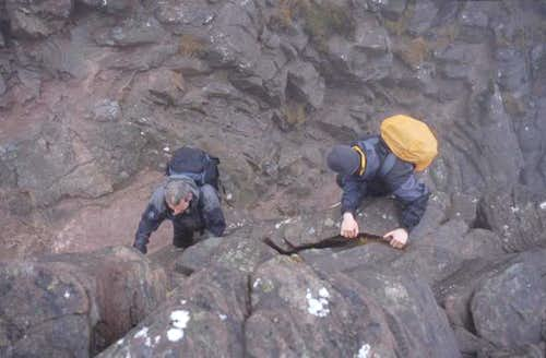 Stac Pollaidh: climbing the...