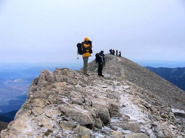 On Kutelo summit ridge, near...