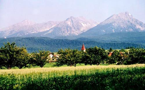 High Tatra panorama from the...