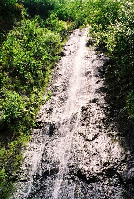 The Afareaitu Waterfall that...