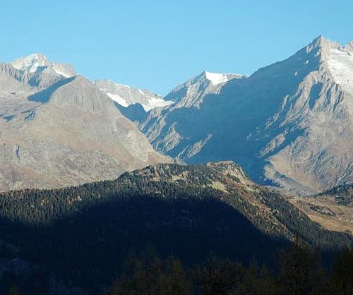 Oberaletschtal and summits...
