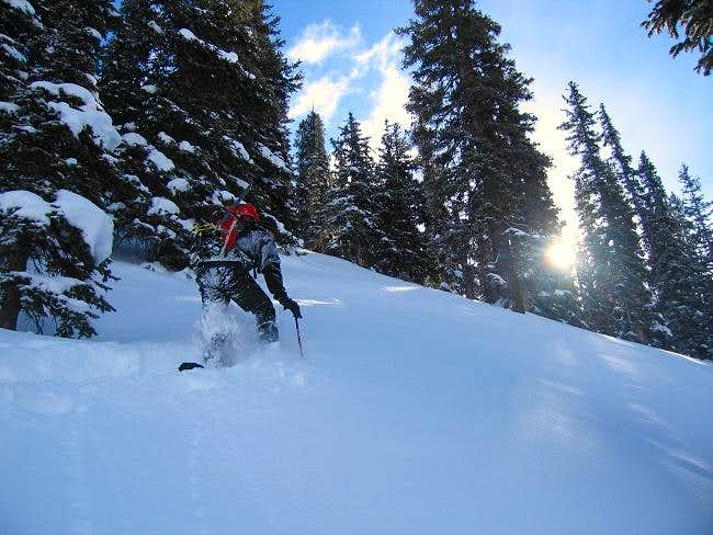 Andy breaking trail on our...