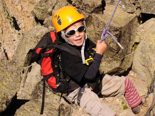 Jon Cruces abseiling down the...