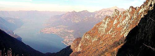 a view of Como Lake from the...