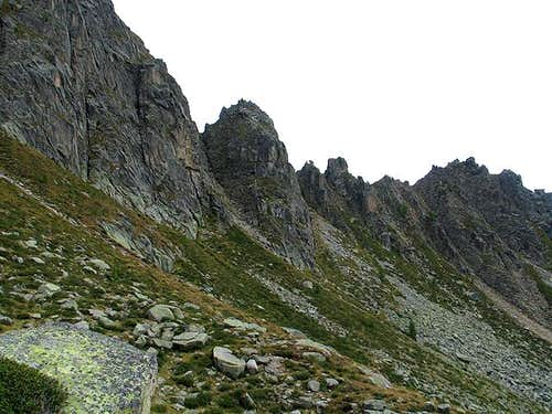 The pinnacles of Corona di Rava