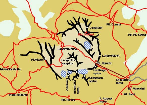 Handdrawn schematic map of...