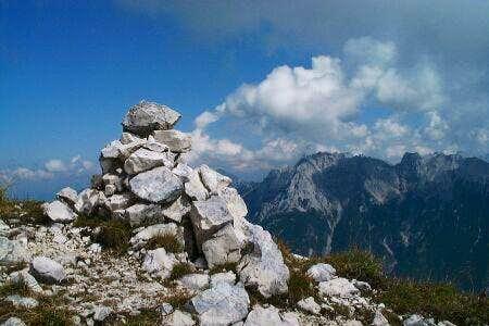 A Steinmandl on the Arnspitze...