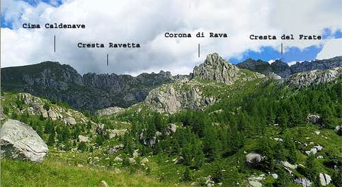 Rava Group view from Val di...