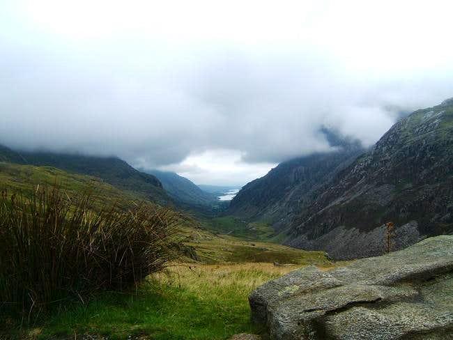 Looking down the Llanberis...