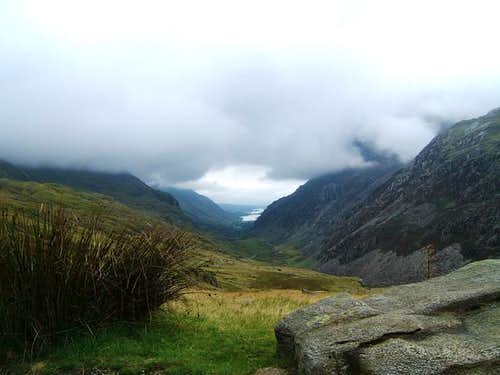Looking down the Llanberis...