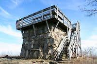 Summit fire tower on Rabun...