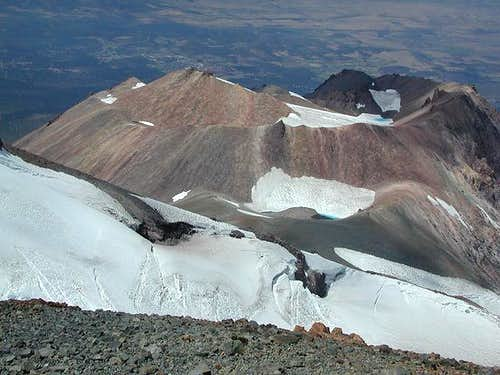 Shastina\'s summit crater...