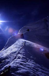A steep pitch of ice climbing...