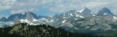 Minarets and Ritter Range...