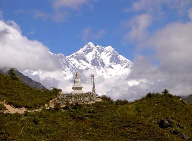 Another Buddhist stupa beyond...